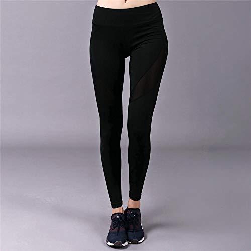 Dames yogabroek biologisch katoen,fitnesslegging met hoge taille,yogabroek,slanke hardloopbroek,gymbroek-LS112_M,broek met rechte pijpen voor yoga