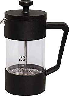 【Teranuvo】 コーヒー フレンチプレス コーヒーメーカー 大容量 フィルターレス プレス式 珈琲 簡単 抽出フレンチプレスコーヒーメーカー 600ml