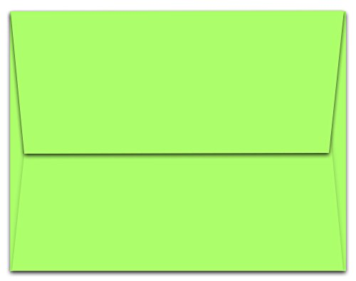 Note Card Cafe A6 6.5 x 4.75 in Blank Lime Green Envelopes | 50 Pack | Sealable, Square Flap | Perfect for Invitations, Greeting Cards, Showers, Weddings, Mailing, Crafts, Notes | Printable