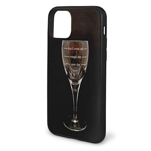 VEELFF Funda compatible con iPhone 11-6.1, funda de silicona líquida, diseño divertido de copa de vino