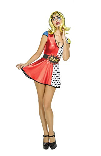 SYMTOP Pop Art Vestido Comic Prints Outfit para Mujer Cosplay - S