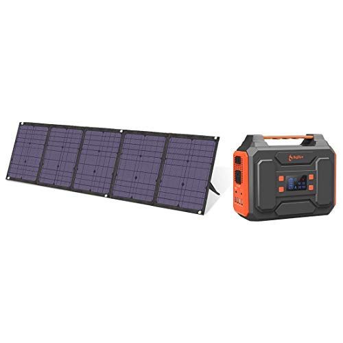 BigBlue 250Wh Portable Power Station and 100W Solar Charger with SunPower Solar Panel