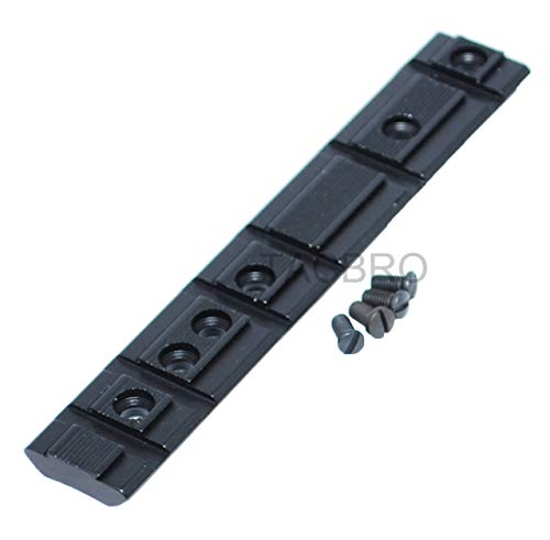 TACBRO Ruger 10/22 1022 10 22 Black Aluminum Scope Base Mount Adapter Dual Weaver/Picatinny & Dovetail