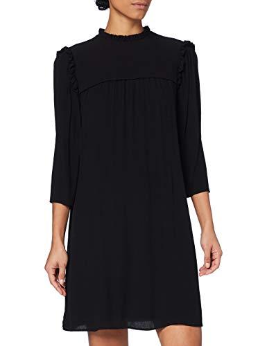edc by ESPRIT Damen 110CC1E321 Kleid, 001/BLACK, 38