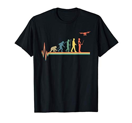 Camiseta de Evolution Heartbeat Drone Retro Drones Camiseta