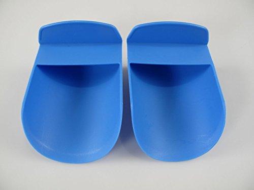 TUPPERWARE Backen Mehlschaufel (2) blau Mehl Backhelfer Küchenhelfer 8813