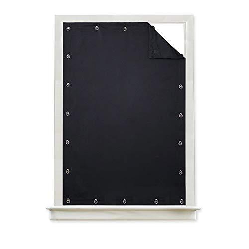 OSISTER7 Tragbarer Verdunkelungsvorhang mit Verdunkelung, Windows-Sonnenschutzabdeckung mit Saugnapf für Dachfenster im Kinderzimmer Dachfenster ohne Bohrung Solid Voile-Vorhangpaneele
