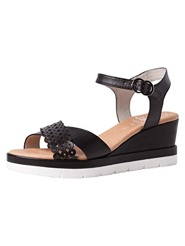 Jana Femmes Sandale 8-8-28313-26 001 Noir Largeur H Taille: 38 EU