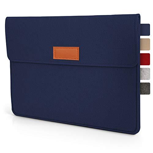 Tablet Tasche Hülle 8 - 9 Zoll aus Filz I für Geräte bis zu 21,5 x 16,5cm I Universal für iPad, Samsung, Huawei I iPad Sleeve und Tablet Schutzhülle, Blau