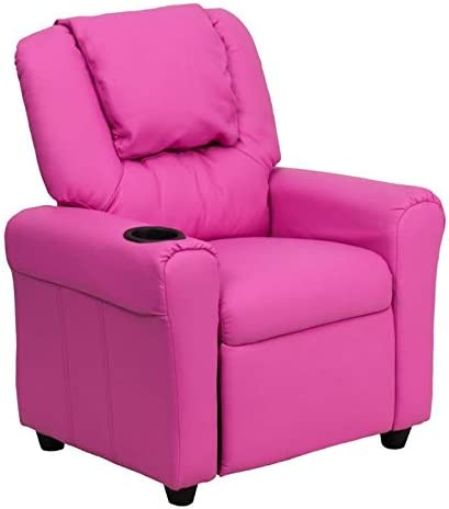 BOWERY HILL Faux Leather Ultra-Cheap Deals Kids Hot in Pink Virginia Beach Mall Recliner
