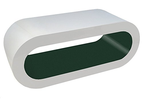 Zespoke Design Bianco Lucido e Opaco Oliva Verde Tavolino Cerchio in Varie Misure