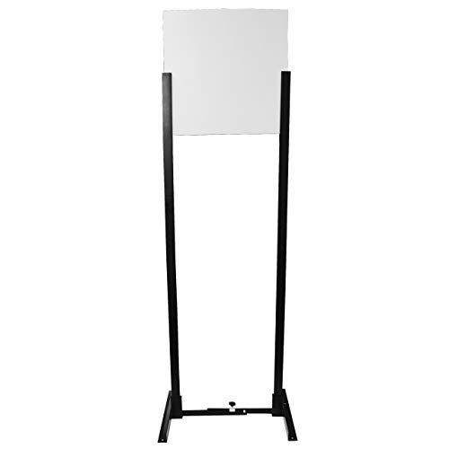 Birchwood Casey Adjustable Base Target Stand Kit w/uprights and Plastic Backer Board, Black, Adjustable Width Stand: 13' to 25'