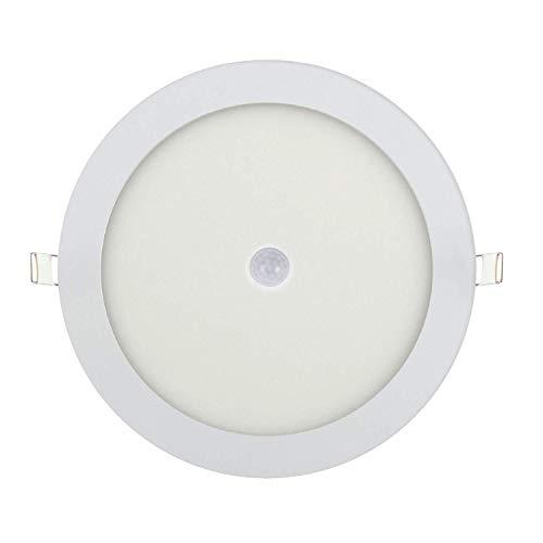 LED Panel Einbauleuchte Panelleuchte Deckenlampe Deckenleuchte mit Bewegungsmelder Bewegungssensor 12w-Rund Ø 170mm Warmweiß