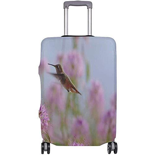Gepäckraumabdeckung Kolibri mit floralem Kofferschutz Reisegepäck Größe S