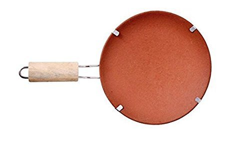Organic Clay Crafts Organic Clay Crafts Clay Tawa/8inch pan (Red...