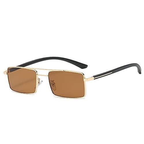 AMFG Rectángulo de moda Gafas de sol Mujeres y hombres Doble haz Glasses Driver Driving Mirror (Color : C)