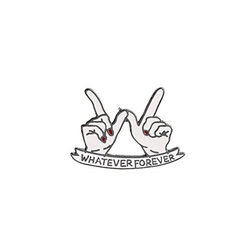 MSYOU Niedliche Brosche in Fingerform, Anstecknadel, Zubehör für Kleidung, Hemd, Jacken, Mäntel, Krawatten, Hüte, Mützen und Taschen (Silber)