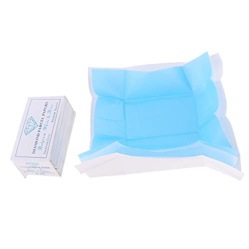 dailymall 25pcs Diamant Edelstein Weiß Und Blau Gewebe/Geschenkpapier Paket 80x45mm