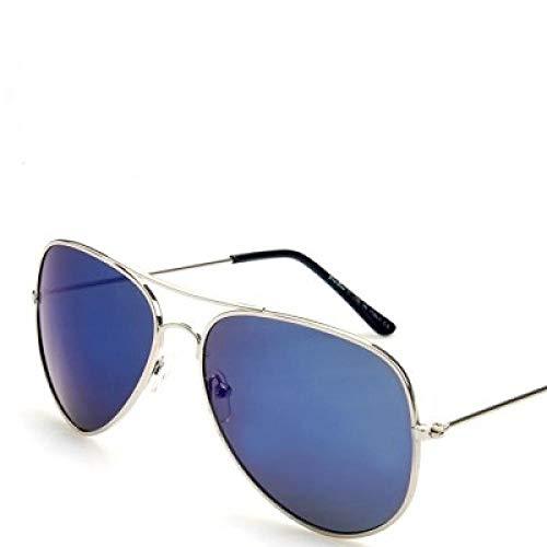 Yidajiu Mannen Klassieke Pilot Zonnebril Legering Frame Zonnebril Voor Mannen Rijden Uv400 Bescherming Anti-Reflecterende Zilver Goud