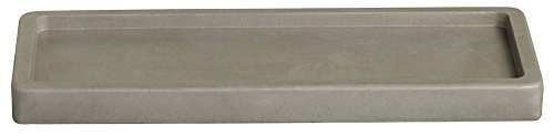 bolsius Beton Teller rechteckig für 4-Docht Kerzen (1 Stück) - grau