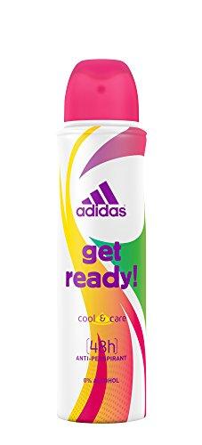 adidas Get Ready! Deospray – Antitranspirant Deo mit sportlich-femininem Duft und langanhaltendem Schutz vor Schweiß – 1 x 150 ml