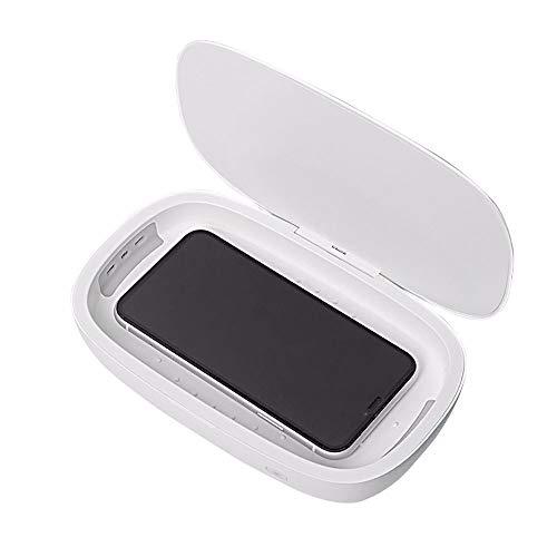 LAMCE Caja de desinfección Ultravioleta Carga inalámbrica 10W Carga rápida UVC teléfono móvil Reloj máscara desinfección Caja esterilizador