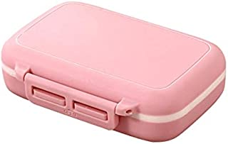 6 Slots Medicine Case Container Portable Plastic Pill Case Pill Box Organiser for Travel(Blue) (Color : Pink)