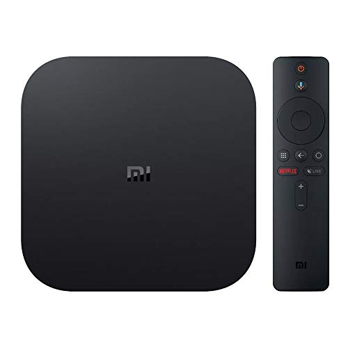 Xiaomi Mi Box S Lettore multimediale in streaming 4K Ultra HD con telecomando vocale, Nero