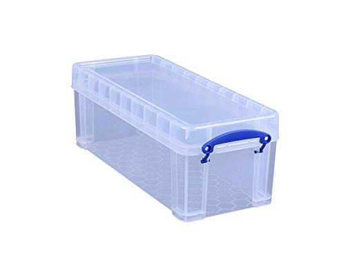 Really Useful Box 3 x 6.5 Liter - 430x180x160mm - für 36 CDs/20 DVDs - transparent