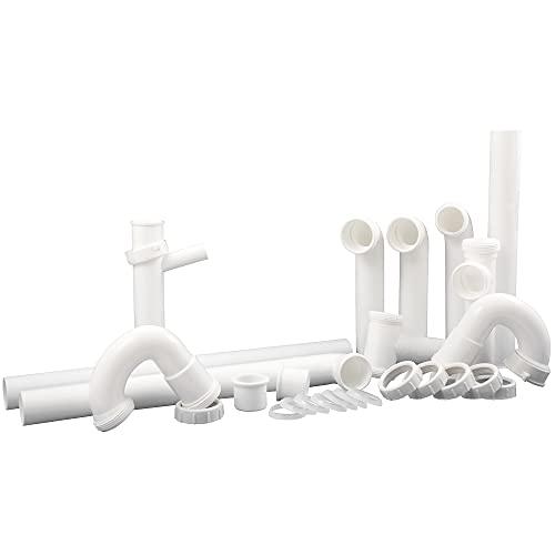 Plumb Craft 7027010N Complete Kitchen Drain Repair Kit - Fits most sinks, White