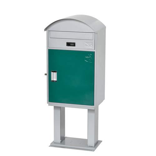 KGY 宅配ボックス リシム ラウンドR2 宅配スタンド付き THS-R2 GR グリーン 『ケイ・ジー・ワイ 郵便ポスト』