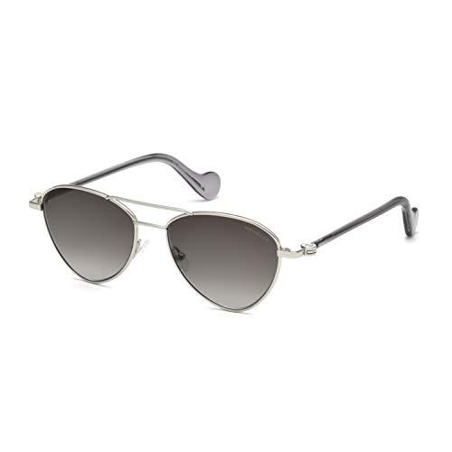 Moncler Unisex-Erwachsene ML0058 16B 53 Sonnenbrille, Silber (Palladio Luc/Fumo Grad)