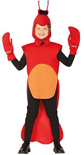 Guirca Krabben Kostüm für Kinder - Größe 110-134 - Krabbe Krebs Fasching Karneval, Größe:128/134