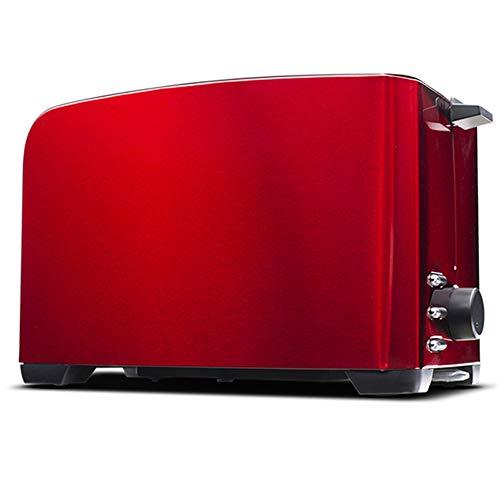 Xyxiaolun Elektrischer Toaster Waffeleisen Elektro Grill Automatische Sandwich Brotmaschine 2 Scheiben Frühstück Maker,Rot
