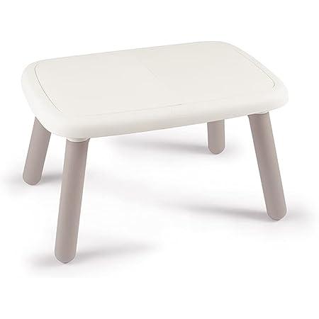 Smoby - Kid Table - Mobilier pour Enfant - Dès 18 Mois - Intérieur et Extérieur - Blanc - 880405