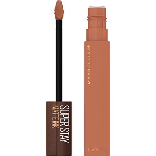Maybelline SuperStay Matte Ink Liquid Lipstick, Long-lasting Matte Finish Liquid Lip Makeup, Coffee Edition, Highly Pigmented Color, Chai Genius, 0.17 Fl Oz
