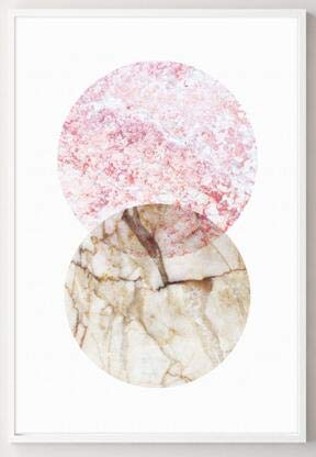 Geiqianjiumai Scandinavisch abstract geometrisch marmeren schildersdoek, moderne wandschilderij decoratie schildert