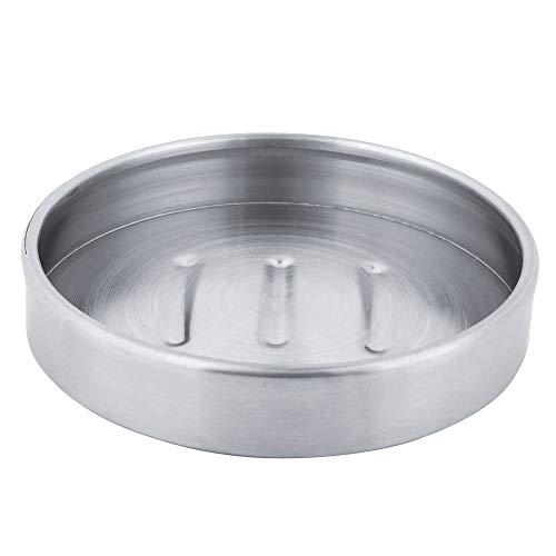 Caja de jabón, plato de jabón plateado Jabón hecho de acero inoxidable Aspecto simple 10,3 * 10,3 * 2 cm Hecho de acero inoxidable para uso doméstico en hoteles