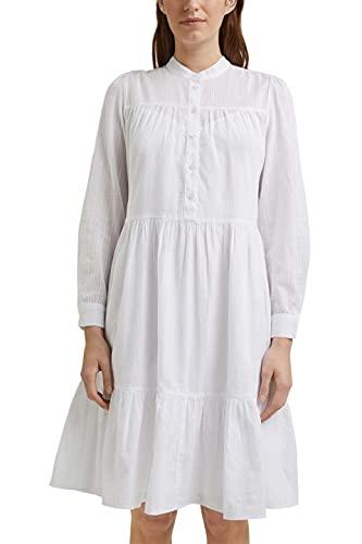 ESPRIT Damen 041EE1E344 Kleid, 100/WHITE, 38