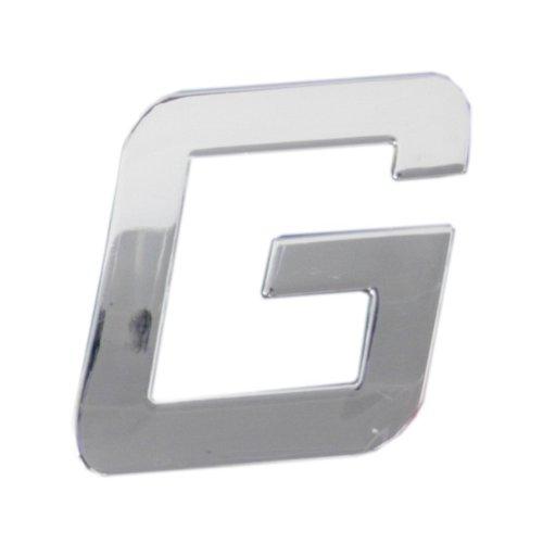 Car Logo Chrombuchstabe G 3D-Optik 26mm, 1 Stk. selbstklebend