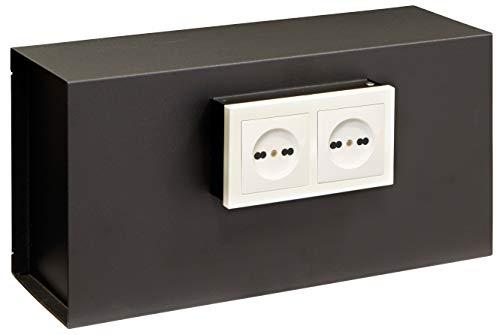 Arregui Socket 23000W-S1 Caja Fuerte de Pared, Invisible detrás de 2 Tomas de Corriente, 20 x 40 x 13 cm, 12 L