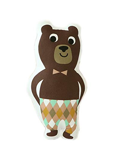 Little Teeth Nordic Fashion Cushion Kids Toy Pillow Home Fabric Decor Bolster Best Gift for Baby Bear