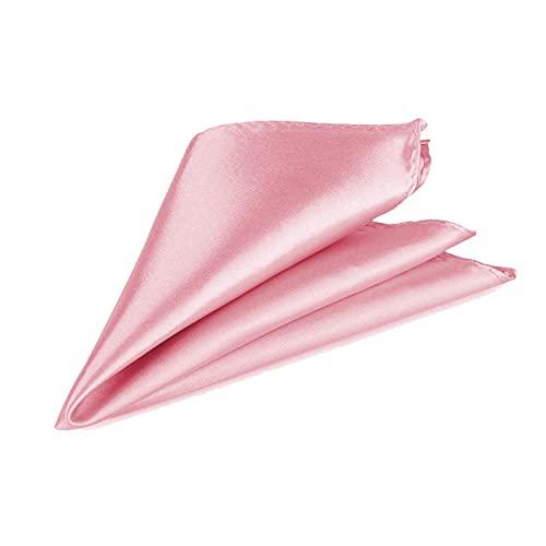 Trimming Shop Italien Carré Satin Mouchoir pour Tenue Habillée, Mariages, Bal, Célébration, Bal, Fêtes - Unisexe, Design Classique - Rose De Rose, 23c