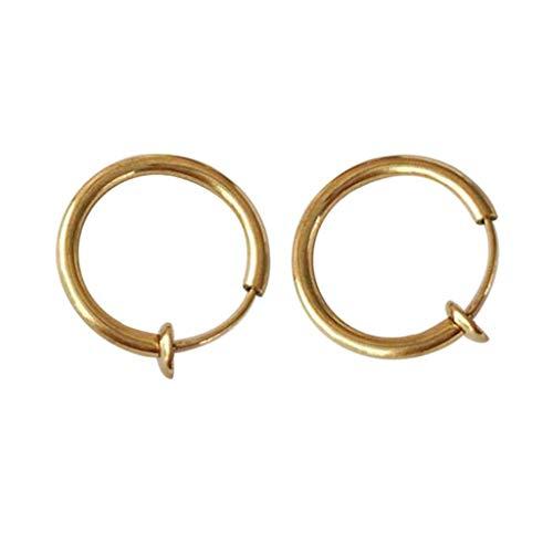 Purchase Muranba 2PCS Clip on Body Nose Lip Ear Fake Retractable Earrings Hoop Earrings Septum