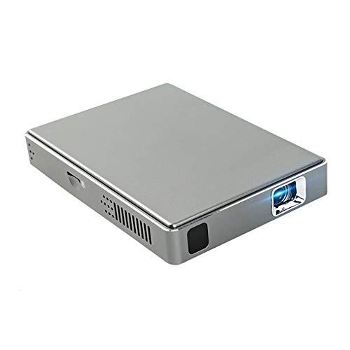 ZTBGY Proyector portátil, Mini proyector DLP Pantalla Inicio WiFi Oficina proyector de Alta definición de corrección Trapezoidal automática Adecuada para Ver Bola del Partido