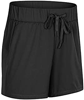 Portonss Sports Shorts,Yoga Shorts,Women Yoga Lounge Shorts Stretch Active Running Shorts Indoor Workout Hiking Shorts 2 Front Pockets