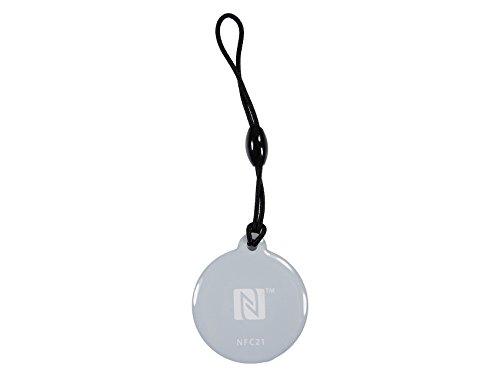 NFC Anhänger, 30mm, 924 Byte, 5 Farben, optimal für Kontaktdaten/Profilsteuerung (WLAN, Bluetooth, Apps), kompatibel mit Allen NFC Smartphones und Tablets, 5 Stück