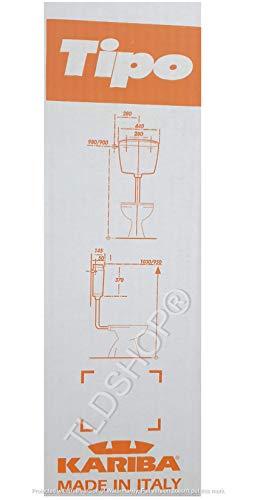 KARIBA Cassetta Esterna Universale Scarico WC Super Eco a Leva in plastica ABS 9 lt