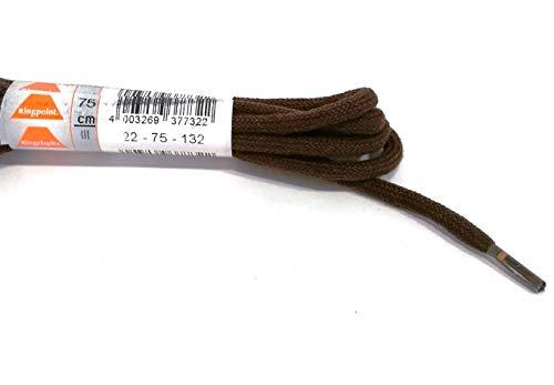 Ringelspitz Schnürsenkel rund dick 4,5 mm Dunkelbraun: Länge: 75 | Farbe: Dunkelbraun