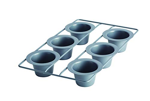 Anolon Advanced Nonstick Bakeware Popover / Muffin / Cupcake Pan - 6 Cup, Gray